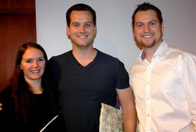 Christer Eidsaa (midten) fra IFS Norge sin ledersamling under IFS Futsal-NM 2013. Sted: Royal Christiania, Oslo. Eidsaa mottok hilsen fra IFS som takk for mange års trofast tjeneste.